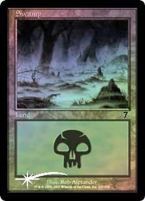 MtG 7th Edition Basic Land Swamp [RANDOM Artwork, Foil]