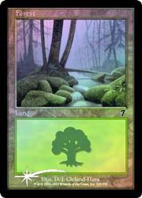 MtG 7th Edition Basic Land Forest [RANDOM Artwork, Foil]
