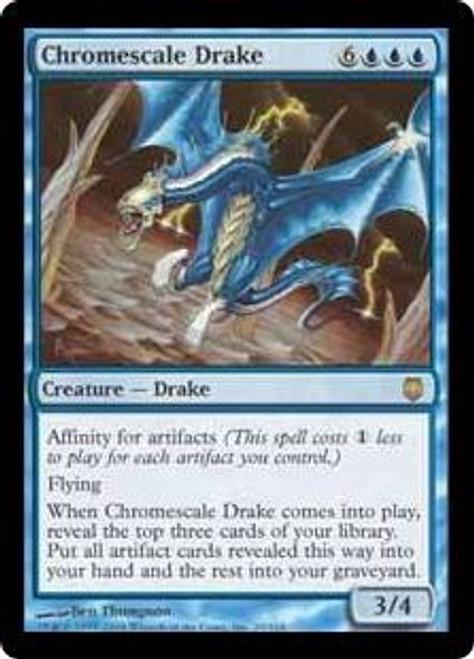 MtG MtG Darksteel Rare Foil Chromescale Drake #20