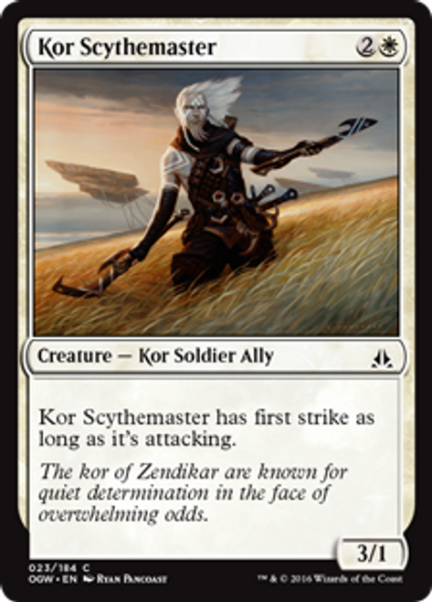 MtG Oath of the Gatewatch Common Foil Kor Scythemaster #23