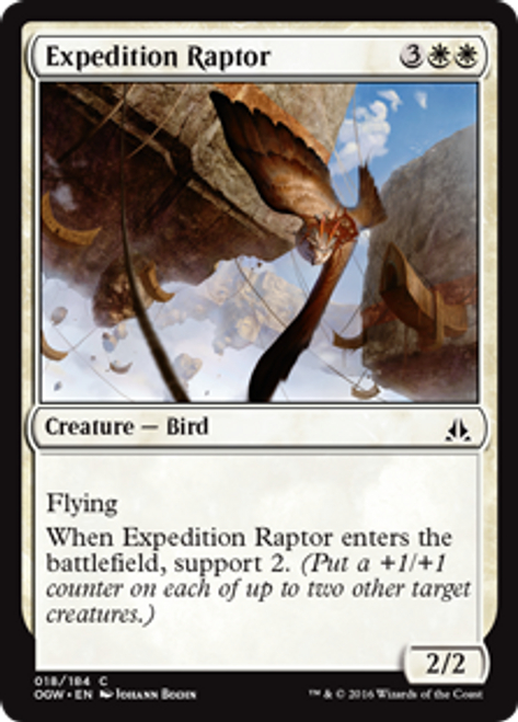 MtG Oath of the Gatewatch Common Foil Expedition Raptor #18