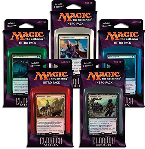 MtG Trading Card Game Eldritch Moon Set of 5 Intro Deck