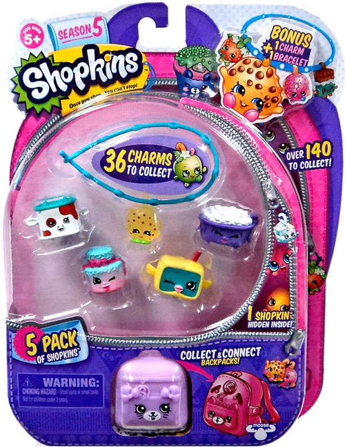 Shopkins Season 5 Mini Figure 5-Pack