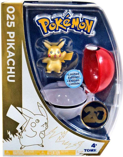 Pokemon 20th Anniversary Clip n Carry Pokeball Pikachu with Poke Ball Exclusive Figure Set [20th Anniversary]