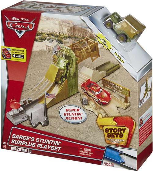 Disney / Pixar Cars Story Sets Sarge's Stuntin' Surplus Playset