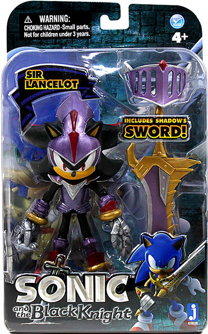 Sonic The Hedgehog Sonic and the Black Knight Sir Lancelot Shadow Action Figure [Purple Armor, Damaged Package]
