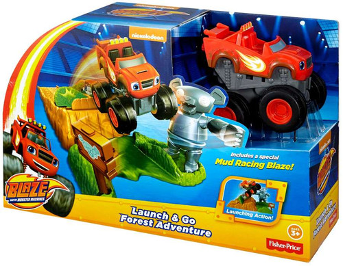 Fisher Price Blaze & the Monster Machines Launch & Go Forest Adventure Playset
