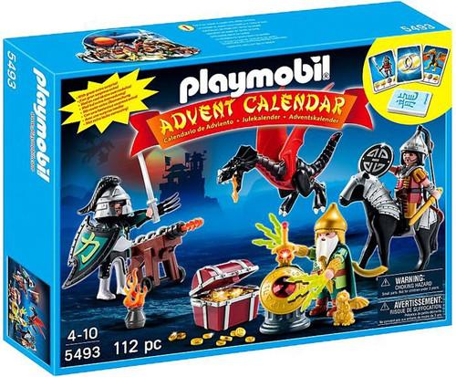 Playmobil Advent Calendar Dragon's Treasure Battle Set #5493 [Damaged Package]