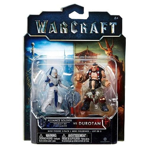 World of Warcraft Alliance Soldier vs Durotan 2.5-Inch Mini Figure 2-Pack
