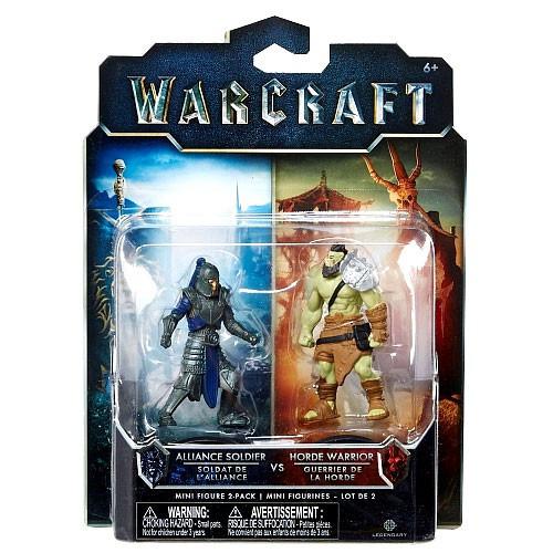 World of Warcraft Alliance Soldier vs. Horde Warrior 2.5-Inch Mini Figure 2-Pack