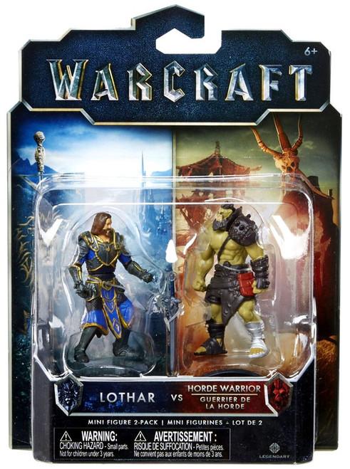 World of Warcraft Lothar vs. Horde Warrior 2.5-Inch Mini Figure 2-Pack