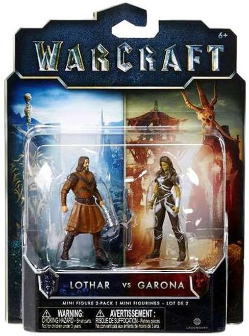 World of Warcraft Lothar vs. Garona 2.5-Inch Mini Figure 2-Pack