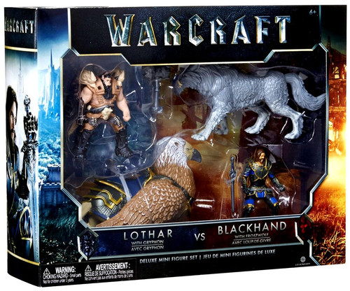 World of Warcraft Lothar with Gryphon vs. Blackhand with Frostwolf 6-Inch Mini Figure Set
