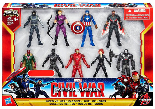 Captain America Civil War Hero vs Hero Faceoff Exclusive 2.5-Inch Mini Figure 9-Pack