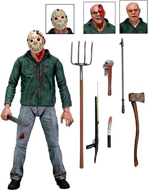 NECA Friday the 13th Part 3 Jason Voorhees Action Figure [Ultimate Version]