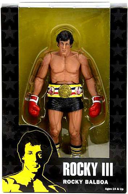 NECA Rocky III Rocky 40th Anniversary Series 1 Rocky Balboa (Black Trunks) Action Figure