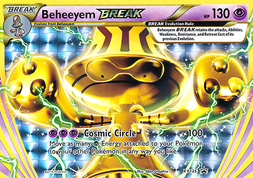 Pokemon X & Y Promo Rare Holo BREAK Beheeyem BREAK XY135