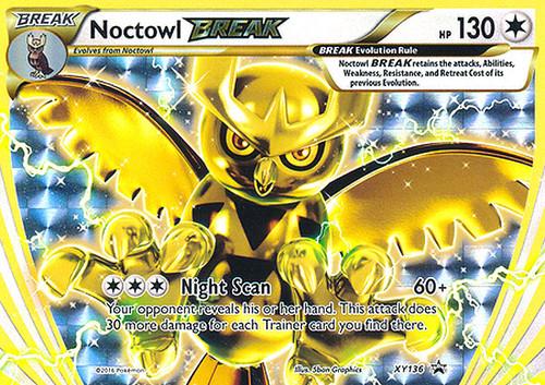 Pokemon X & Y Promo Rare Holo BREAK Noctowl BREAK XY136