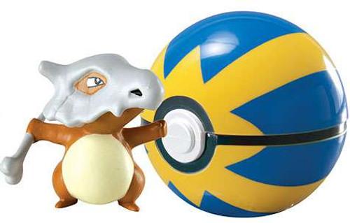 Pokemon Clip n Carry Pokeball Cubone with Quick Ball Figure Set