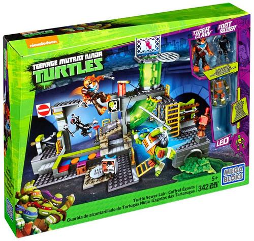 Mega Bloks Teenage Mutant Ninja Turtles Animation Turtle Sewer Lair Set #29037