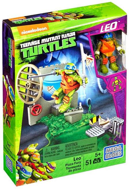 Mega Bloks Teenage Mutant Ninja Turtles Animation Leo Pizza Fury Set #29021