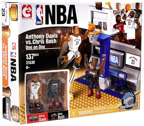 NBA New Orleans Pelicans / Miami Heat C3 Construction Anthony Davis vs Chris Bosh One on One Building Set #21539