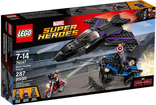 LEGO Marvel Super Heroes Captain America: Civil War Black Panther Pursuit Set #76047