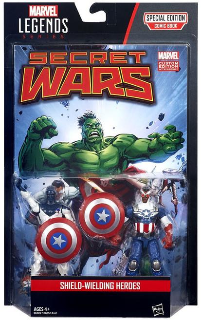 Marvel Legends Vance Astro & Captain America Action Figure 2-Pack [Shield-Wielding Heroes]