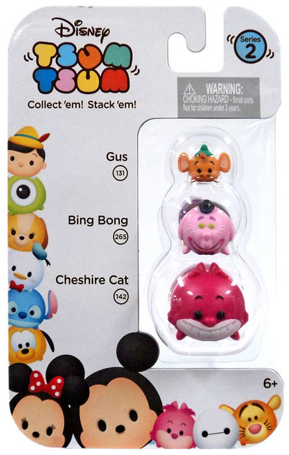 Disney Tsum Tsum Series 2 Gus, Bing Bong & Cheshire Cat Minifigure 3-Pack #131, 265 & 142