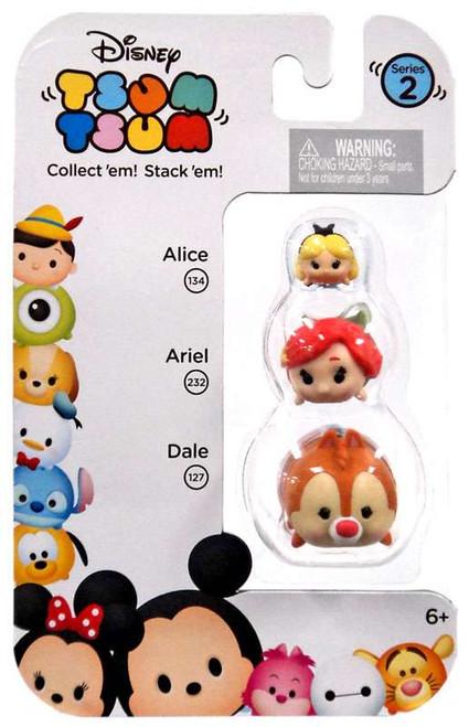Disney Tsum Tsum Series 2 Alice, Ariel & Dale Minifigure 3-Pack #134, 232 & 127