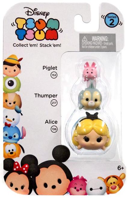 Disney Tsum Tsum Series 2 Piglet, Thumper & Alice Minifigure 3-Pack #152, 217 & 136