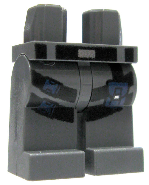 LEGO Gray Legs with Black Harness Design Loose Legs [Loose]