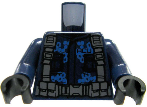 LEGO Dark Blue Torso With Gray Combat Rig & Camo Design Loose Torso [Loose]