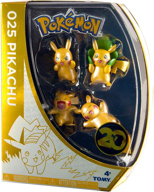 Pokemon 20th Anniversary Pikachu Exclusive Mini Figure 4-Pack [Version 2]