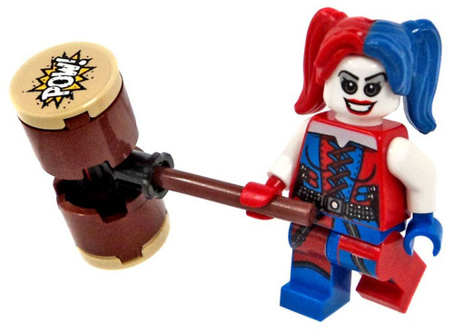 LEGO DC Batman Harley Quinn with Hammer Minifigure [Red and Blue Loose]