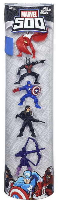 Marvel 500 Falcon, Ant-Man, Captain America, Winter Soldier & Hawkeye 2-Inch Mini Figure 5-Pack