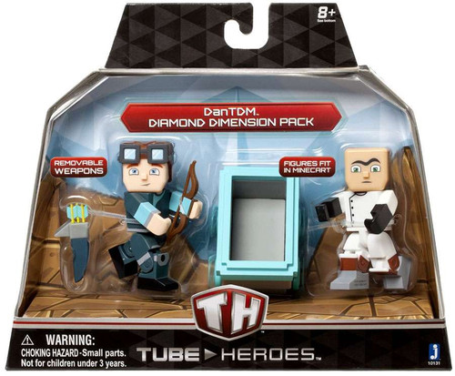 Tube Heroes DanTDM Diamond Dimension Pack Action Figure 2-Pack