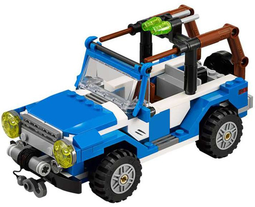 LEGO Jurassic World Blue & White Jeep Loose Vehicle [Loose]
