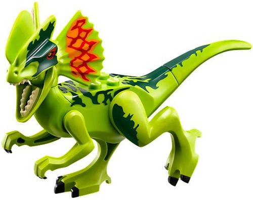 LEGO Dino Dark Green & Bright Green Dilophosaurus [Loose]