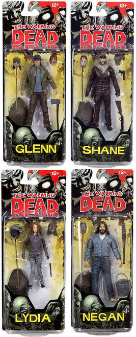 McFarlane Toys The Walking Dead Comic Series 5 Lydia. Glenn. Negan & Shane Set of 4 Action Figures