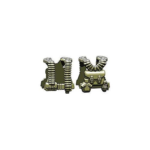 BrickArms Combat Vest WW2 US Gunner 2.5-Inch [Olive]