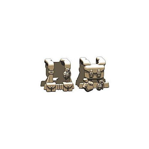 BrickArms Combat Vest WW2 US Scout 2.5-Inch [Dark Tan]