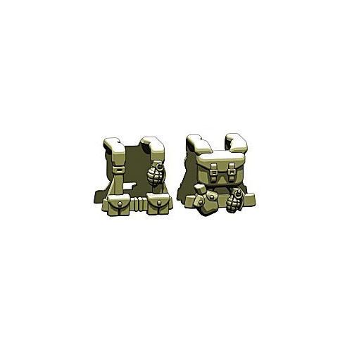 BrickArms Combat Vest WW2 US Scout 2.5-Inch [Olive]