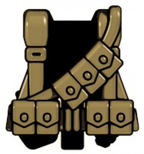 BrickArms Combat Vest WW2 US Rifleman 2.5-Inch [Dark Tan]
