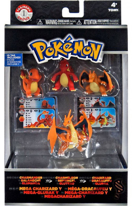 Pokemon XY Charmander, Charmeleon, Charizard & Mega Charizard Y Mini Figure Evolution 4-Pack [Boxed]