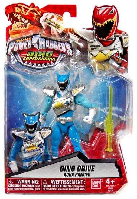Power Rangers Dino Super Charge Dino Drive Aqua Ranger Action Figure