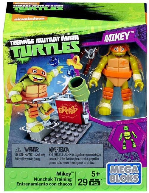 Mega Bloks Teenage Mutant Ninja Turtles Animation Mikey Nunchuk Training Set #29017