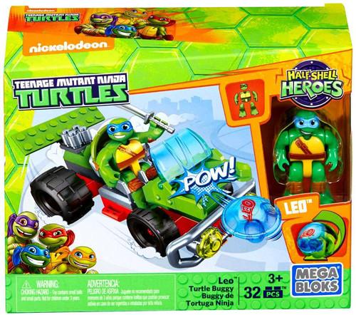 Mega Bloks Teenage Mutant Ninja Turtles Half Shell Heroes Leo Turtle Buggy Set #28931