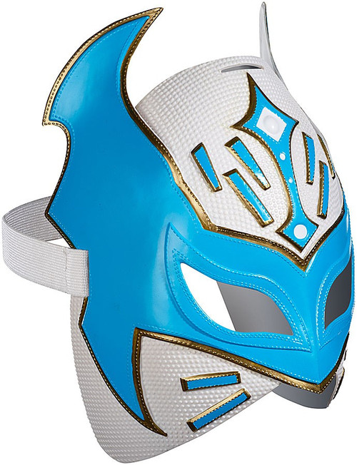 WWE Wrestling Costumes Sin Cara Replica Mask [White & Blue]