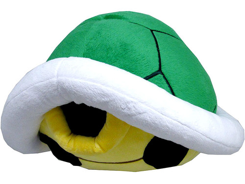 Super Mario Bros Green Koopa Shell 15-Inch Plush Pillow